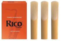 3 Paquete de Rico Saxofón Tenor Cañas. fuerza 3.5 Saxo Tenor Cañas de 3 X 3 1/2