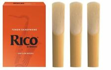 3 Pack of Rico Tenor Saxophone Reeds. Strength 3.5 Tenor Sax Reeds 3 x 3 1/2