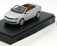 VW EOS 2011 CABRIOLET SILVER KYOSHO 1Q1.099.300.A7W 1/43 VOLKSWAGEN SILBER