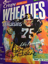 Pittsburgh Steelers Joe Greene Signed LeRoy Neiman Wheaties Box