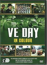 VE DAY IN COLOUR 3 DVD BOX SET EVENTS LEADING UP TO THE OF WWII & CELEBRATIONS