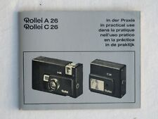 Rollei A 26 C26 Kamera Blitz Bedienungsanleitung Camera Flash User Manual