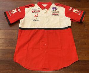 Vintage Simpson Della Penna Fed Ex Toyota Indy Racing League Pit Team Shirt XL