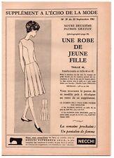 ▬► Patron Couture Supplément Écho de la Mode Robe Taille 42 à 46 N°39 1961
