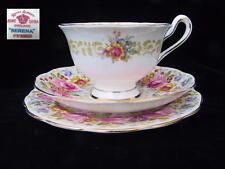 Royal Albert SERENA 3pc Avon Shaped Trio Tea Cup Saucer Side Plate 1st Eng c1935