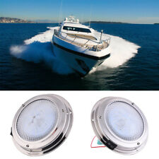 Marine Boat Car Stainless Steel Dome Cabin Light Yacht Ceiling Lamp 12LEDs