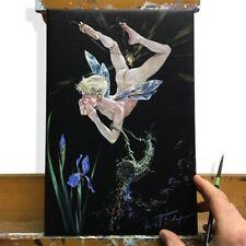 "Kirill Fadeyev authored PRINT ""Glowworm""  30x20cm canvas nude gay art men boy"