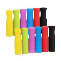 12 Silicone Straw Tips, Multicolored Food Grade Straws Tip For 1/4 Metal Straws