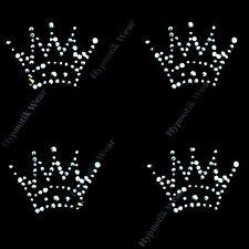 "Rhinestone Transfer "" Crystal Mini Crowns ""4 pcs., Iron On, Hotfix, Cute"