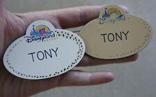 Disneyland Resort Cast Member TONY Name Tag Pins Disney Employee Badge Antonio