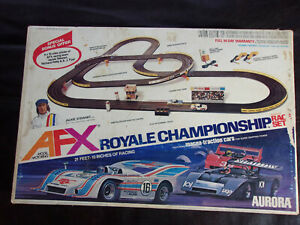 Vintage AURORA AFX ROYALE CHAMPIONSHIP RACE SET 1977 COMPLETE W/ CARS    VGC!