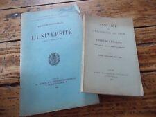 2 VOL UNIVERSITE LYON RENTREE ANNUAIRE ETUDIANT 1897 1905 DROIT SCIENCES LETTRES