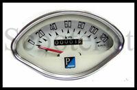 Vespa GS GL Vbb Vba Vbc GL SS Super Sprint 150 125 Speedo Speedometer White