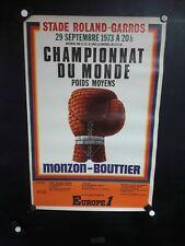 AFFICHE BOXE  MONZON-BOUTTIER  CHAMPIONNAT DU MONDE 1973