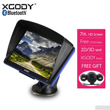 """2018 XGODY 7"""" Portable GPS Navigation with Wired Reverse Backup Camera Free Map"""