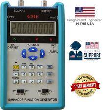 GME FG-3010 10MHz Portable DDS Function Generator w/ 12Vp-p 1-Yr USA Warranty