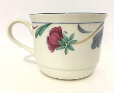 Lenox Chinastone Poppies On Blue Flat Coffee or Tea Cup (s) EUC