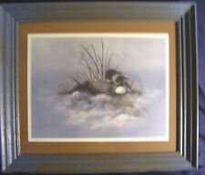 Kathleen Whitehead Loons Signed & numbered Framed
