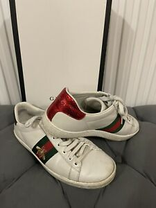Authentic Gucci Ace Bee Leather Trainers 37 RRP £480