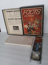 Vintage Facts In Five 1971 3M Brand Bookshelf Board Card Game