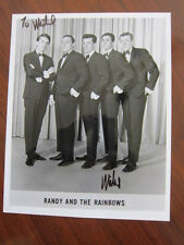 RANDY & THE RAINBOWS 8x10 photo  AUTOGRAPHED