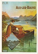 AIX-LES-BAINS carte postale affiche du 20ème siècle dessin par F. Hugo d'Alesi
