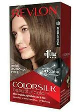 3 X REVLON COLOURSILK HAIR COLOUR 40 MEDIUM ASH BROWN 3D COLOUR NO AMMONIA