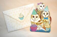 Punch studio greeting greeting cards ebay punch studio owls cupcakes gold embellished die cut cards envelopes m4hsunfo