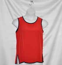 Linea by Louis Dell'Olio Contrast Piping Tank Size S Red