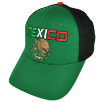 Mexico Mexican Flag Country Green Black  Hat Cap Adjustable Two Tone Gorra