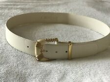 Vintage  St. John Belt With Gold/Ivory Buckle