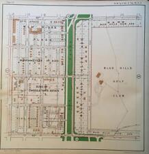 1925 KANSAS CITY MISSOURI BLUE HILLS GOLF CLUB TROOST SCHOOL ATLAS MAP
