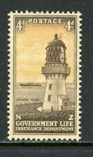 New Zealand Scott #OY34 MNH Life Insurance 4p LIGHTHOUSE CV$4+