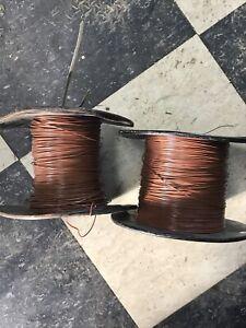 Western Electric 24GA Brown Enamel Distribution/ Switchboard Wire