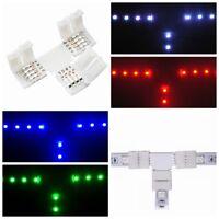 10 x RGB LED Stripe Zubehör Schnellverbinder Steck-Eck-Verbinder Winkel Streifen