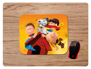CHARLIE BROWN AND PILOT SNOOPY MOUSEPAD MOUSE PAD HOME OFFICE GIFT NON-SLIP