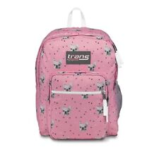 JanSport Supermax Backpack French Bulldog Pink Trans 15 Laptop Frenchie 8872