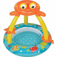 Jilong Inflatable Crab Baby Paddling Pool with Canopy & Inflatable Bottom SUMMER