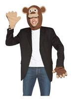 Adult Monkey Kit Jungle Animal Costume Std Fancy Dress Brand New