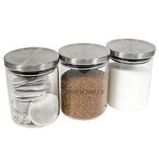 Tè caffè zucchero contenitori Stoccaggio Set 800ml VETRO CONTENITORI BARATTOLI PASTA RISO