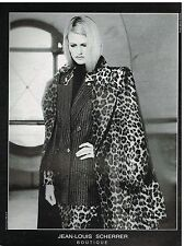 Publicité Advertising 1990 Haute Couture Manteau Jean Louis Scherrer
