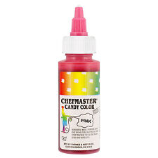 Chefmaster Pink Liquid Candy Color, 2 Ounce Free Shipping! NEW