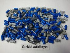 Lego Technic Mindstorms NXT RCX Lot 200 Short Pins Connectors Blue Gray Half Peg
