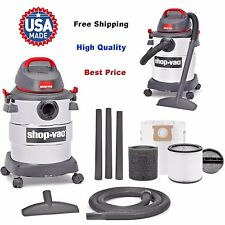 6 Gallon 4.5 Peak HP Stainless Steel Wet/Dry Vac Shop-Vac Household Supplies NEW
