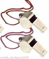 2 Metal Whistle & Lanyard Emergency Survival, Party's