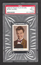 Stan Laurel of Laurel & Hardy 1930s Pidan Film Stars Card Spain PSA 7.5 NM+