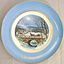 Enoch Wedgwood Avon DASHING THROUGH THE SNOW 1979 Christmas Collector Plate