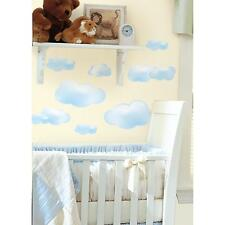 CLOUDS wall stickers 19 decals fluffy blue sky nursery room stickups scrapbook