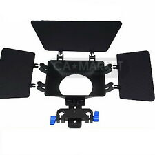 15mm rail rod Matte box  support DSLR VCR sunshade for 5D II 7D 60D 600D D90 T3i