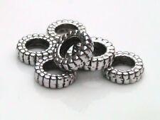 30 X Tibetano Anillo De Plata Perlas espaciador Joyas H16